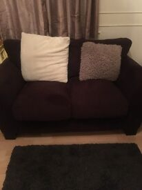 2 x 2 seat sofa and foot buffet