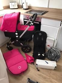 Immaculate bugaboo cameleon 3 pink or will sell hoodless for Unisex/boy