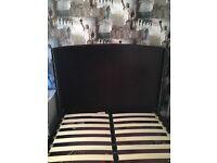 Next black velvet Double Bed