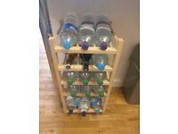 Ikea 9 bottle rack