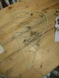Heart shaped greeting card holder