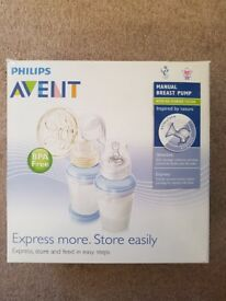 Philips Avent Natural Comfort Breast Pump, Bottle and Storage system - Used