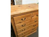 Chest of Draws and Two side tables. Pine and Handmade!