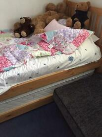 John Lewis bed with spare