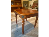Vintage square wooden table 56cm x 53cm high in good condition