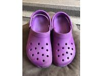 Purple crocs size 5 genuine