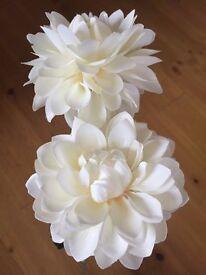Artificial Flowers White/ Cream (x 6 stems)