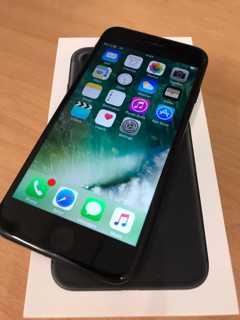 iPhone 7 black 32gb 4G locked to EEorange T Mobile virginBTnetwork immaculatein Stoke on Trent, StaffordshireGumtree - iPhone 7 black 32gb 4G locked to EE ( orange T Mobile virgin & BT ) network immaculate condition used a few times only. Comes with box & accessories. Still under Apple warranty till 29/6/2017. This for cash on collection only sorry