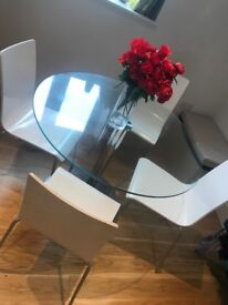 Glass dining table PLUS 4 chairs!
