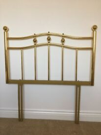 Brass headboard to fit single bed