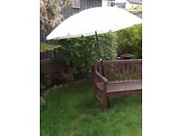 Cream Garden Parasol - Tilt or Straight.