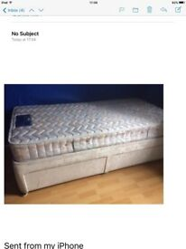 Single bed with mattress and under bed storage drawers all n good condition