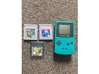 Nintendo gameboy colour 3 games