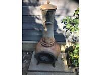 Cast iron chimenea