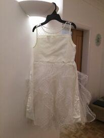 Monsoon white Dress Age 11