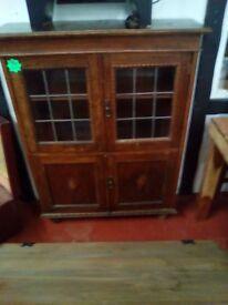 Antique side unit storage dresser