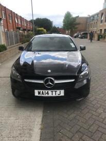 Black Mercedes CLA automatic 200 sport (reg 14)