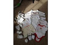 30 newborn-3mths unisex /boys baby clothes
