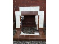 Fireplace tiled 1950s