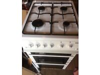 White Gas Freestanding Cooker 50cm Wide