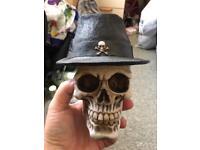 Skull money box