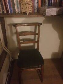 2 X old chapel chairs