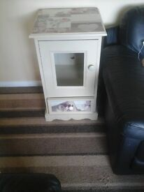 Solid pine bedside cabinet / small tv unit