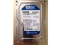 500 GB HARD DRIVE WESTERN DIGITAL 7200 RPM 3.5inch, 6Gb/second, SATA.