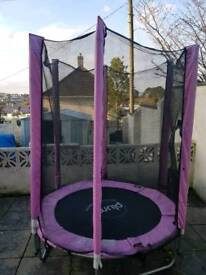 Small pink trampoline