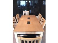 Lovely beech wood table and chairs