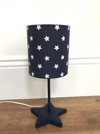 Navy star Bedside lamp
