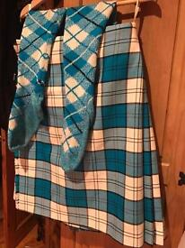 SPECIAL DRESS LENNOX TURQUOISE KILT & SOCKS
