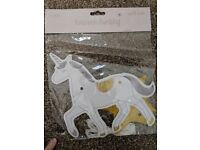 Unicorn bunting from Sass & Belle, new in packaging