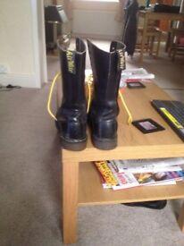 Doc Marten black boots size 8