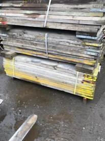 Old scaffolding planks 80p per foot