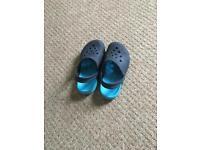 Blue crocs size 12