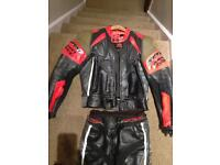 Spike motorbike suit and boots