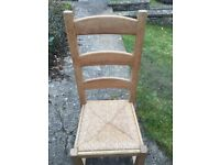 x6 oak wood dining room chairs