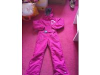 Girls Trespass snowsuit - 7-8 years