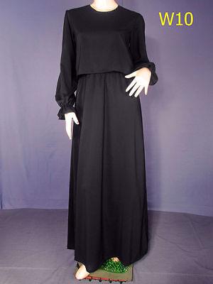 """Abaya Jilbab - UK Sizes 10,12,14,16  Length 48,49,50,51,52,53,54,55,56,57,58,59"""""""