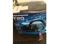 PlayStation steering wheel thrust master t80