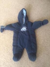 Baby boy blue snowsuit