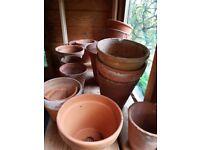 old fashioned vintage flower pots. free!