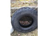 Camac Terra 4x4 tyre LT 235/75R 15 part worn.
