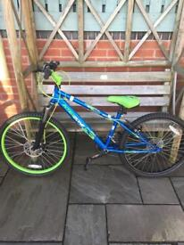 Kids bike with helmet and gloves 24""