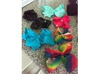 6 original Jojo hair bows from Accessorize