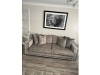 Midas sofa range from sofology in grey 4 & 3 seater.
