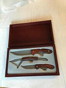 Wood Handled Knife Set 3Piece