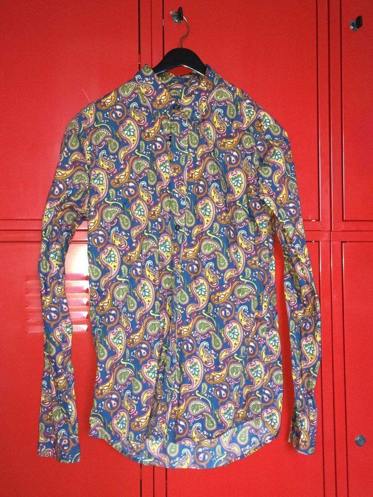 Limited Edition Pretty Green Long Sleeve Paisley Shirt