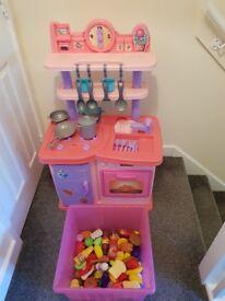 Childs kitchen with accessories